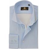 Circle of Gentlemen Heren overhemd dain licht met witte print cutaway slim fit