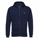 Lyle and Scott Brushed zip hoodie
