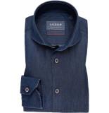 Ledûb Heren overhemd denim cutaway modern fit