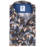R2 Westbrook Heren overhemd all-over bloem print modern fit