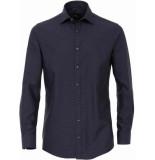 Venti Heren overhemd oxford witte stip modern fit
