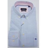 Giordano Heren overhemd licht streep contrast button-down regular fit