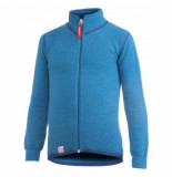Woolpower Vest kids full zip jacket 400 dolphine blue