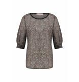 Studio Anneloes Dolores crepe flower shirt 04938