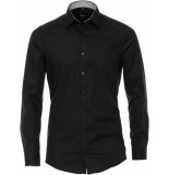 Venti Heren overhemd contrast poplin kent body fit