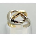 Atelier Christian Gouden gevlochten bicolor ring