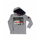 Boys in Control 304 grijs melange sweater
