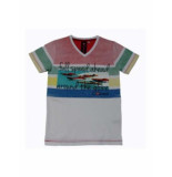 Boys in Control 601 wit / coraal rood T-shirt