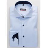Eterna Heren overhemd cover shirt navy contrast cutaway modern fit