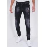 True Rise Jeans met stretch slim fit