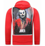 Tony Backer Joker print hoodie