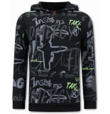 Tony Backer Sweater met capuchon graffiti hoodie