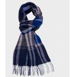 Michaelis Sjaal grijs multicolour klassiek gewoven wol