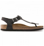 Birkenstock Sandaal kairo leather regular black oiled leather