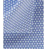 Michaelis Overhemd licht poplin witte print cutaway slim fit
