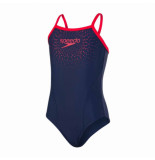 Speedo Gala logo thinstr muscleb nav/red