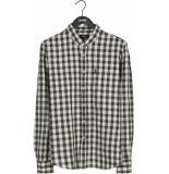 Antwrp Longsleeve shirt check cotton linnen mix