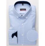 Eterna Overhemd licht geruit twill button down modern fit