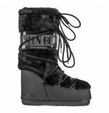 Moon Boot Women classic faux fur black