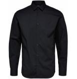 Selected Homme Heren overhemd poplin stretch slim fit