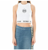 Dolly noire Canotta donna hexagon high neck crop ts264