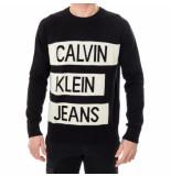 Calvin Klein Maglione stacked logo cotton sweater j30j314117.bae