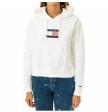 Tommy Hilfiger Felpa donna tommy jeans tjw americana badge hoodie dw0dw08817.ybr