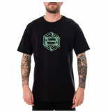 Dolly noire T-shirt uomo logo wireframe ts005.blk