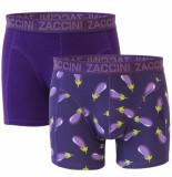 Zaccini heren boxershorts 2 pack aubergine -