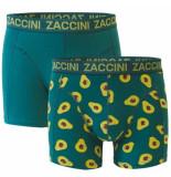 Zaccini heren boxershorts 2 pack avocado -
