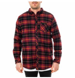 Dolly noire Camicia uomo shirt tartan bordeaux sr03