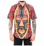 Dolly noire Camicia uomo ritual mask shirt sr05