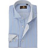 Circle of Gentlemen Heren overhemd licht streep cutaway slim fit