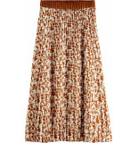 Scotch & Soda Plisse skirt with allover print combo c
