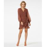 Freebird Confetti-pes-01 mini dress long sleeve rosy ls brown