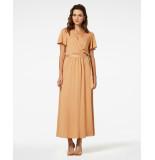 Freebird Vis-05 maxi dress short sleeve ivana caramel