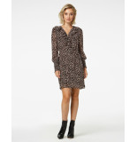 Freebird Spot-pes-02 mini dress long sleeve healy brown