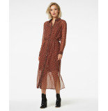 Freebird Confetti-pes-01 midi dress long sleeve harper brown
