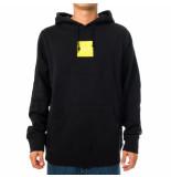 HUF Felpa uomo box logo p/o hoodie pf00276.blk