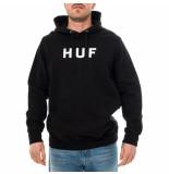 HUF Felpa uomo classic dye hoodie fl00052.blk