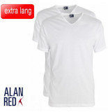 Alan Red extra lang t-shirt 2 pack vermont v-hals -