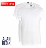 Alan Red extra lang t-shirt 2 pack derby ronde hals regular fit -