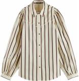Scotch & Soda Western shirt with balloon sleeves stripe