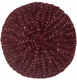 King Louie Beret braid grape red