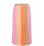 Mos Mosh 138180 394 mosmosh plisse block skirt peach parfait