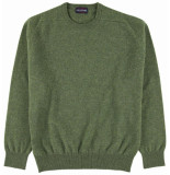 Osborne Crew neck trui lamswol dennen tailored fit