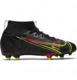 Nike Mercurial superfly 8 academy fg/mg kids black