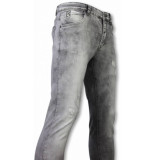 True Rise Jeans slim fit damaged premium jeans