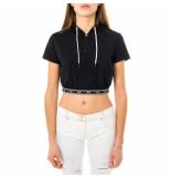 Freddy T-shirt donna top con cappuccio f8whst2