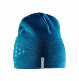 Craft Muts knit star hat teal typhoon s/m